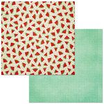 BoBunny - Celebrating Freedom Collection - 12 x 12 Double Sided Paper - Watermelon