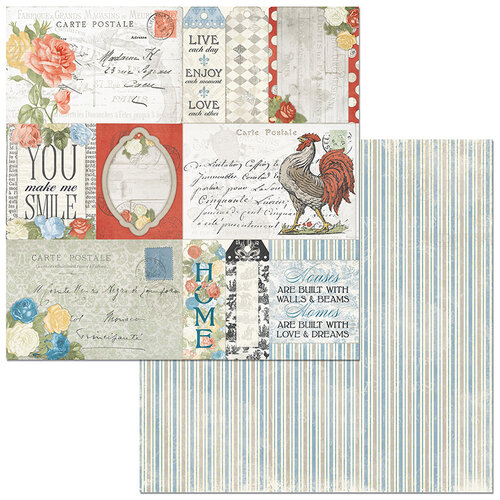 BoBunny - Boulevard Collection - 12 x12 Double Sided Paper - Boulevard de France