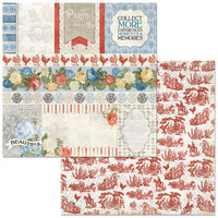 BoBunny - Boulevard Collection - 12 x12 Double Sided Paper - Boulevard de Paris