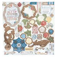 BoBunny - Boulevard Collection - Chipboard Stickers with Foil Accents
