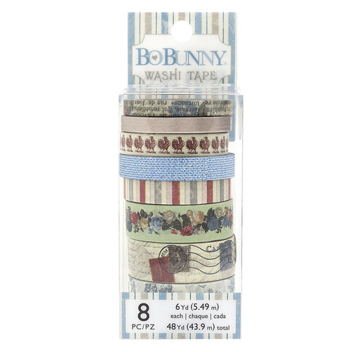 BoBunny - Boulevard Collection - Washi Tape with Foil Accents