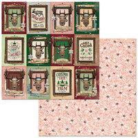 Bo Bunny - Christmas Treasures - 12 x 12 Double Sided Paper - Reindeer