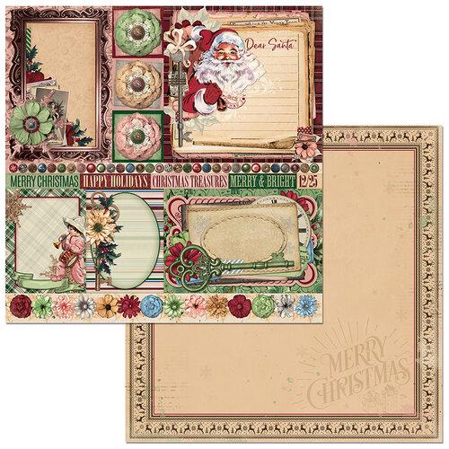 Bo Bunny - Christmas Treasures - 12 x 12 Double Sided Paper - Dear Santa