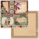 Bo Bunny - Christmas Treasures - 12 x 12 Double Sided Paper - Dear Santa