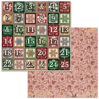 Bo Bunny - Christmas Treasures - 12 x 12 Double Sided Paper - Advent