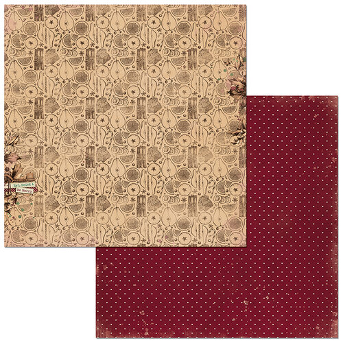 Bo Bunny - Christmas Treasures - 12 x 12 Double Sided Paper - Wassail