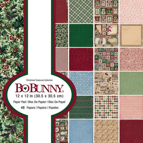 Bo Bunny - Christmas Treasures - 12 x 12 Paper Pad