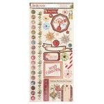 Bo Bunny - Christmas Treasures - 6 x 12 Cardstock Stickers
