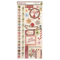 Bo Bunny - Christmas Treasures - 6 x 12 Cardstock Stickers