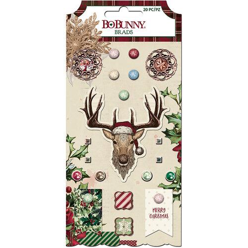 Bo Bunny - Christmas Treasures - Brads
