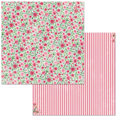Bo Bunny - Count The Ways Collection - 12 x 12 Double Sided Paper - Darling
