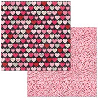 Bo Bunny - Count The Ways Collection - 12 x 12 Double Sided Paper - Hearts