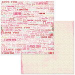 Bo Bunny - Count The Ways Collection - 12 x 12 Double Sided Paper - I Love You