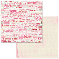 BoBunny - Count The Ways Collection - 12 x 12 Double Sided Paper - I Love You