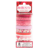 Bo Bunny - Count The Ways Collection - Washi Tape with Red Foil and Pink Glitter Accents