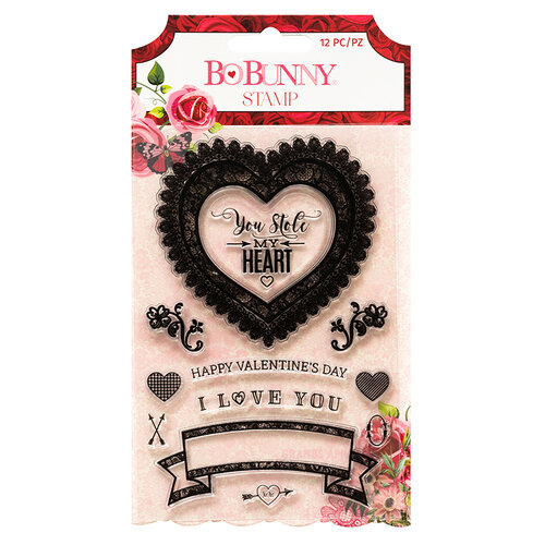 Bo Bunny - Count The Ways Collection - Clear Acrylic Stamps