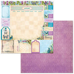 BoBunny - Time And Place Collection - 12 x 12 Double Sided Paper - January