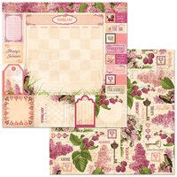 BoBunny - Time And Place Collection - 12 x 12 Double Sided Paper - February