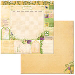 BoBunny - Time And Place Collection - 12 x 12 Double Sided Paper - March