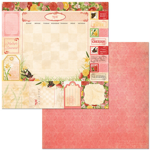 BoBunny - Time And Place Collection - 12 x 12 Double Sided Paper - May