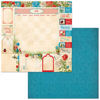 BoBunny - Time And Place Collection - 12 x 12 Double Sided Paper - July
