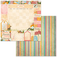 BoBunny - Time And Place Collection - 12 x 12 Double Sided Paper - August
