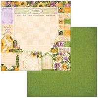 BoBunny - Time And Place Collection - 12 x 12 Double Sided Paper - October