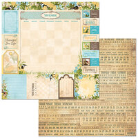 BoBunny - Time And Place Collection - 12 x 12 Double Sided Paper - November