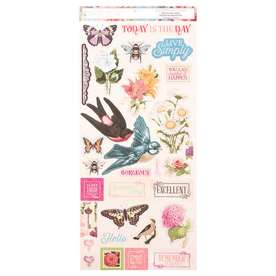 BoBunny - Time And Place Collection - Cardstock Stickers