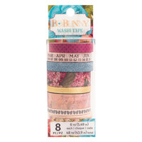 BoBunny - Time And Place Collection - Washi Tape - Matte Gold Foil and Blue Glitter Accents