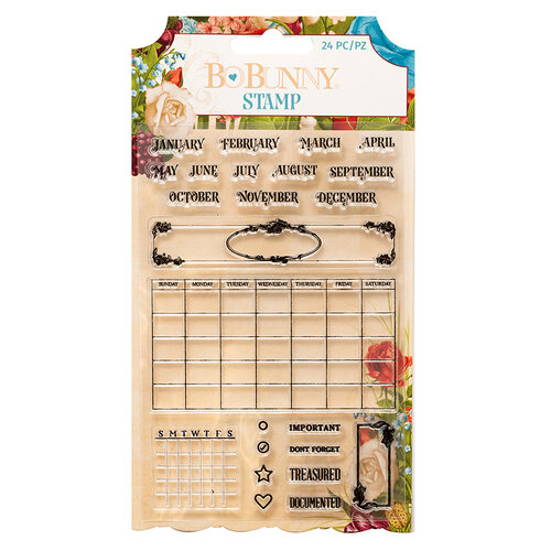 BoBunny - Time And Place Collection - Clear Acrylic Stamps