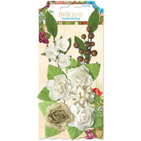 BoBunny - Time And Place Collection - Embellishments - Paper Flowers