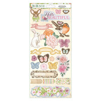 BoBunny - Garden Grove Collection - 6 x 12 Cardstock Stickers