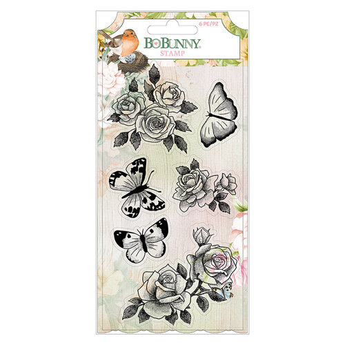 BoBunny - Garden Grove Collection - Clear Acrylic Stamps