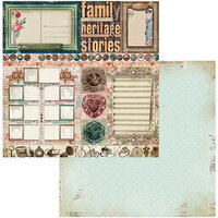 BoBunny - Family Heirlooms Collection - 12 x 12 Double Sided Paper - Trinkets