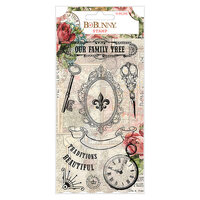 BoBunny - Family Heirlooms Collection - Clear Acrylic Stamps