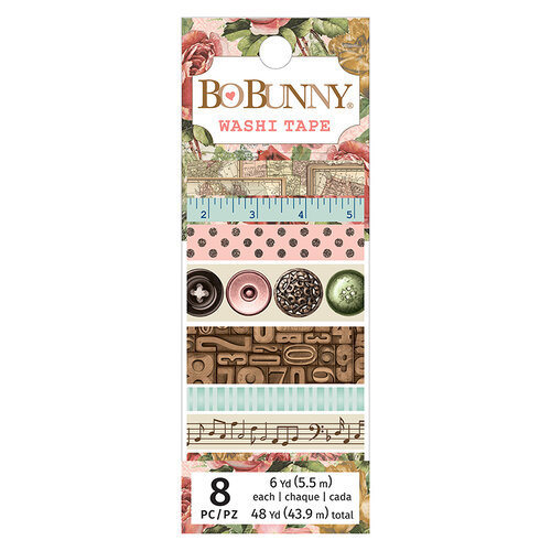 BoBunny - Family Heirlooms Collection - Washi Tape with Gold Glitter and Copper Foil Accents