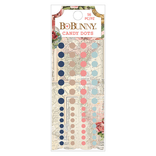 BoBunny - Family Heirlooms Collection - Self Adhesive Enamel Dots