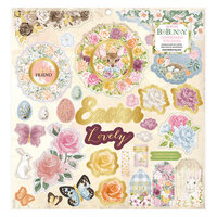 BoBunny - Garden Grove Collection - 12 x 12 Chipboard Stickers