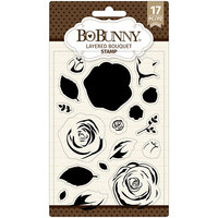 BoBunny - Clear Acrylic Stamps - Layered Bouquet