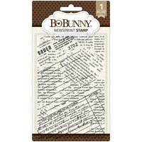BoBunny - Clear Acrylic Stamps - Newsprint Stamp