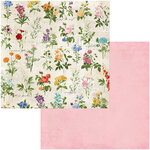 BoBunny - Botanical Journal Collection - 12 x 12 Double Sided Paper - Arrangement