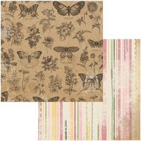 BoBunny - Botanical Journal Collection - 12 x 12 Double Sided Paper - Butterflies