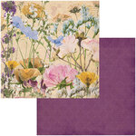BoBunny - Botanical Journal Collection - 12 x 12 Double Sided Paper - Flowers