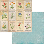 BoBunny - Botanical Journal Collection - 12 x 12 Double Sided Paper - Garden