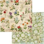 BoBunny - Botanical Journal Collection - 12 x 12 Double Sided Paper - Observe