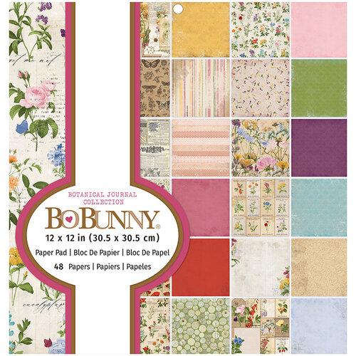 BoBunny - Botanical Journal Collection - 12 x 12 Paper Pad