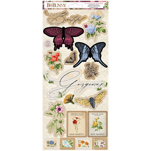 BoBunny - Botanical Journal Collection - 6 x 12 Cardstock Stickers