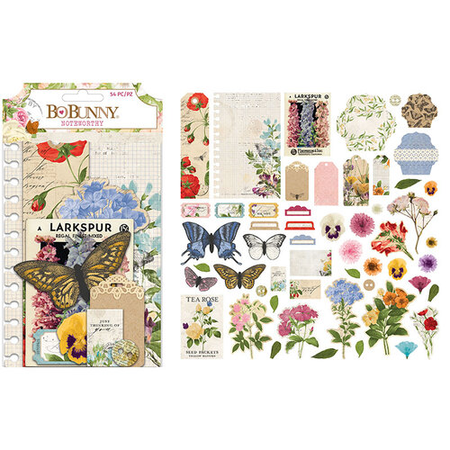 BoBunny - Botanical Journal Collection - Noteworthy Journaling Cards