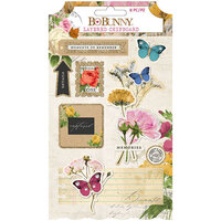 BoBunny - Botanical Journal Collection - Layered Chipboard with Glitter Accents